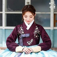 this is adorable Korean Traditional Clothes, Traditional Dresses, Korean Fashion Trends, Asian Fashion, Korea Dress, Korean Hanbok, My Unique Style, Ulzzang, Oriental Fashion