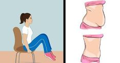 Try these 5 easy chair exercises for your abs. Chair workouts are a great way to blast belly fat in when you're time strapped. Stubborn Belly Fat, Reduce Belly Fat, Lose Belly Fat, Office Exercise, Workout At Work, Living Room Workout, Chair Exercises, Workout For Beginners, Academia