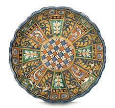 Coppa Montelupo, bottega del 1580 -1590 circa