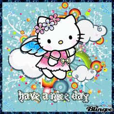 Have a nice Day Ardell Lashes Styles, Hello Kitty Collection, Hello Kitty Wallpaper, Sanrio, Good Day, Pugs, Diy And Crafts, Angeles, Sleep