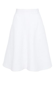 Cotton pique skirt