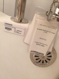 Bathtub faucet label