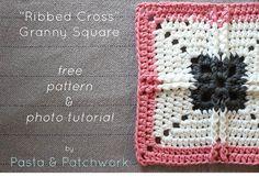 """""""Acanalado Cruz"""" Plaza de la abuela - patrón de crochet libre y foto tutorial - Pasta & Patchwork"""