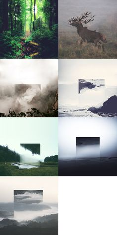 Victoria Siemer - Reflected Landscapes, art, digital art, photo manipulations