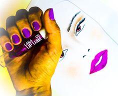 #manicura #neon #violeta #facechart #neon #labios #manicure #violet #neon #lips http://amisqueridasmujeres.blogspot.com.es/ https://www.facebook.com/redlipsmakeup?ref=hl http://redlipsmakeupstudio.com/