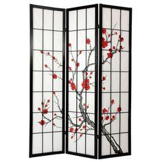 "Oriental Furniture 72"" Cherry Blossom Decorative Room Divider"