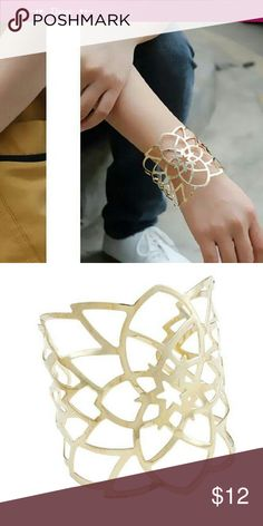 Star Cut Bangle Bracelet New Star Cut Bangle Bracelet gold plated....adjustable...See all styles for more follow us to see new items posted daily! We carry the latest in women's and kids & man fashion...limited edition makeup jewelry swimsuits and more!! Rima Imar Jewelry Bracelets