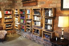 Crates for shelving - fabulous!