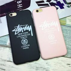 iPhone7/7 plusソフトケースカバー シュプリームStussy 薄型 アイフォン6s保護携帯ケース シンプル カップルペアケース ピンク 黒 格安 送料無料