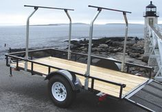 The TopTier™ Load Bar Kit instantly transforms a standard utility trailer into a high capacity transport system capable of carrying multiple canoes, kayaks and bikes while leaving the bed available for camping or hunting equipment. For the general. Tent Camping Beds, Canoe Camping, Canoe And Kayak, Camping Hacks, Camping Gear, Kayak Fishing, Camping Store, Bed Tent, Camping Activities