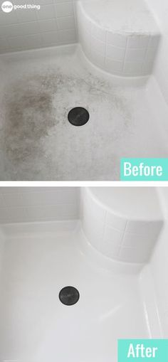Try This Powerful Homemade Shower Cleaner & Soap Scum Remover · One Good Thing by Jillee - House cleaning tips - Household Cleaning Tips, Deep Cleaning Tips, Toilet Cleaning, House Cleaning Tips, Natural Cleaning Products, Spring Cleaning, Cleaning Supplies, Cleaning Solutions, Cleaning Shower Floor