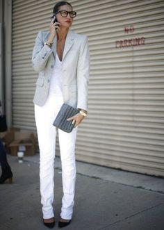 jenna lyons look blazer calça street style
