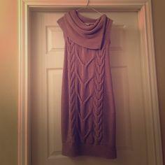 BCBG taupe sweater dress w/zipper cowl neck Barely worn BCBG taupe sweater dress with zipper cowl neck BCBGeneration Dresses