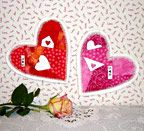 Crazy Quilt Valentine - Another Grandma Series project from Clothesline Quilts. This one also has little pockets for love notes.