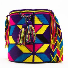 Knit Crochet, Crochet Bags, Bucket Bag, Tapestry, Purses, Knitting, Leather, Handmade, Totes