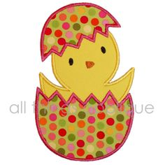 Easter Applique Design - Hatching Chick - Machine Embroidery Applique Design. $4.00, via Etsy.