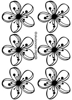 Royal Icing Templates, Stencil Templates, Stencils, Spring Coloring Pages, Coloring Book Pages, Fabric Flowers, Paper Flowers, Embroidery Patterns, Tangle Patterns