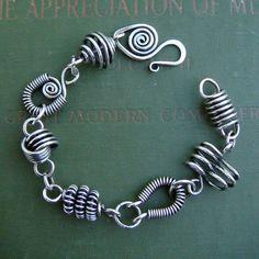 wirework bracelet. mixed designs