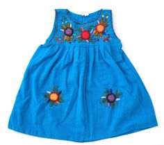 Flores Baby Dress-Azul | Humble Hilo