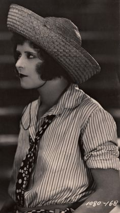 Sass in a Straw Hat & Stripes ☆ Clara Bow (age 22) ☆ Hula (1927) ☆ Directed by Victor Fleming ☆