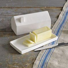 the cutest butter dish ever? I love butter dishes.. White of course so they go along with everything