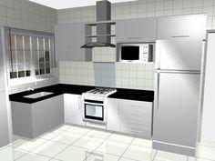 Kitchen Room Design, Diy Kitchen, Kitchen Interior, Kitchen Decor, Small Modern Kitchens, Kitchen Modular, Bedroom Closet Design, Small Kitchen Organization, House Front Design