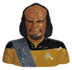 Star Trek The Next Generation Worf Ceramic Cookie Jar $44.99