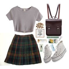 A fashion look from September 2015 by shannonmichellex featuring Jones New York, The Cambridge Satchel Company, Mally, Clinique, Byredo and Dot & Bo - Woman Under Wear Fashion Looks, 90s Fashion, Korean Fashion, Fashion Outfits, Womens Fashion, Fashion Trends, Fashion Spring, Dress Fashion, Fashion 2015