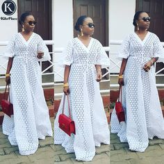 Be Kikswoman shop our Flare Sleeve Maxi.we know comfort is Key, we give dresses in simple yet chic designs. Be like Kiksmama😎 Available to order is sizes.Kindly send a Dm or WhatsApp to place your order. African Maxi Dresses, Latest African Fashion Dresses, African Dresses For Women, African Print Fashion, Africa Fashion, African Attire, African Wear, African Women, African Lace Styles