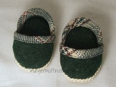 """Cute green Espadrille shoes fits American Girl doll and other 18"""" dolls"""