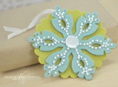 Beaded Snowflake Tag by Nichole Heady for Papertrey Ink (October 2013)