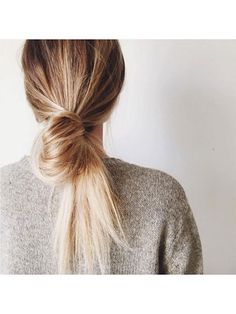 37 Gorgeous Hair Ideas to Steal From Instagram: blonde looped bun | allure.com