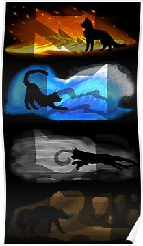 Warrior Cats: Four Elements, Four Clans Posters - Tap the link now to see all of our cool cat collections!