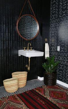 Lavabos escuros: veja 12 decorações com cores intensas (Foto: Divulgação)