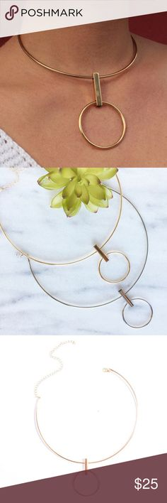 Statement choker vintage simple pendant choker These TRENDY statement chokers are available in gold and silver.  Perfect addition to any outfit!  🎀BUNDLE To Receive discount🎀 pearl street Jewelry Necklaces