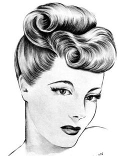 1940s inspired hair - Google Search