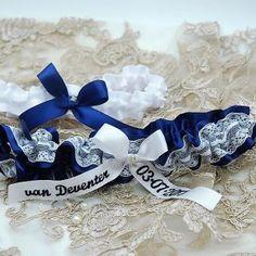 Navy and white set made for Elmarie Garter Set, Wedding Garter, Hanukkah, Navy And White, Custom Design, Decor, Decoration, Decorating, Deco
