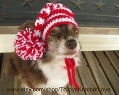 Small Dog Elf Hat,Crochet Elf Dog Hat,Crochet Christmas Dog Hat,Crochet Dog Hat,Elf Hat, 20.97