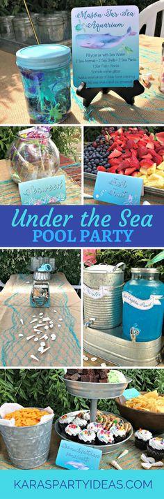 Under the Sea Pool Party via Kara's Party Ideas