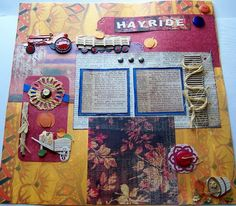 Premade Scrapbook Page Autumn Hayride GORGEOUS