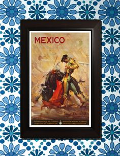 Mexico Travel Poster - 3 sizes available, one low price. by VintageUnitedStates on Etsy https://www.etsy.com/listing/157613125/mexico-travel-poster-3-sizes-available