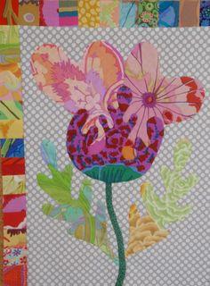 """FOLK ART FLOWER - Kim McLean's """"Flower garden"""""""