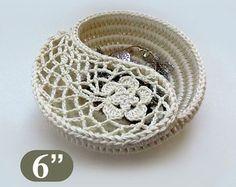 Modello 4 piatto di yin yang gioielli CROCHET Crochet di goolgool