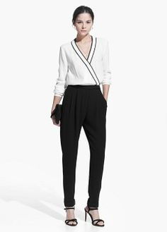 Discover the special promotions in Mango Outlet fashion, footwear and accessories. Black Jumpsuit, Mango Outlet, Long Jumpsuits, Jumpsuits For Women, Mango Clothing, Black And White Romper, Black White, One Piece Suit, En Vogue