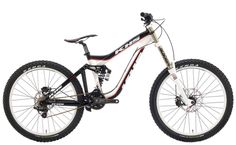 "2013 KHS DH150-DH Team Full Suspension Mountain Bike 26"" wheels. Color: Red, Black and White www.khsbicycles.com"