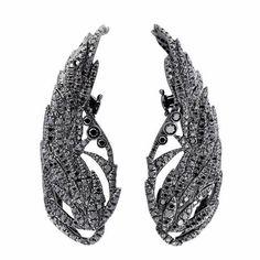 Runa Jewelry Wings Night Black Diamond Earrings