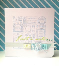 Pastel Note Card - Papermania Chronology