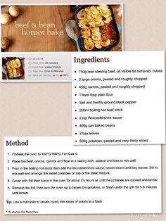 Beef and Bean Hotpot Bake - Slimming World