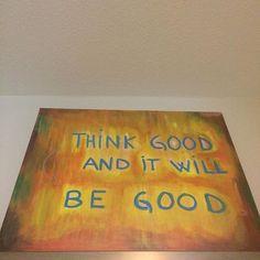 #thinkgoodthoughts #jewishart #light #homedecor #chassidut #positivemindset  45$ 16X20 Oul and acrylic