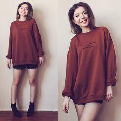 Duygu Fidanoglu - H&M Boots, Bershka Sweater, Mango Shorts - A Pity, We Were Such a Good Invention